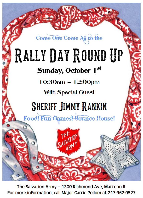 Rally Day at the Salvation Army