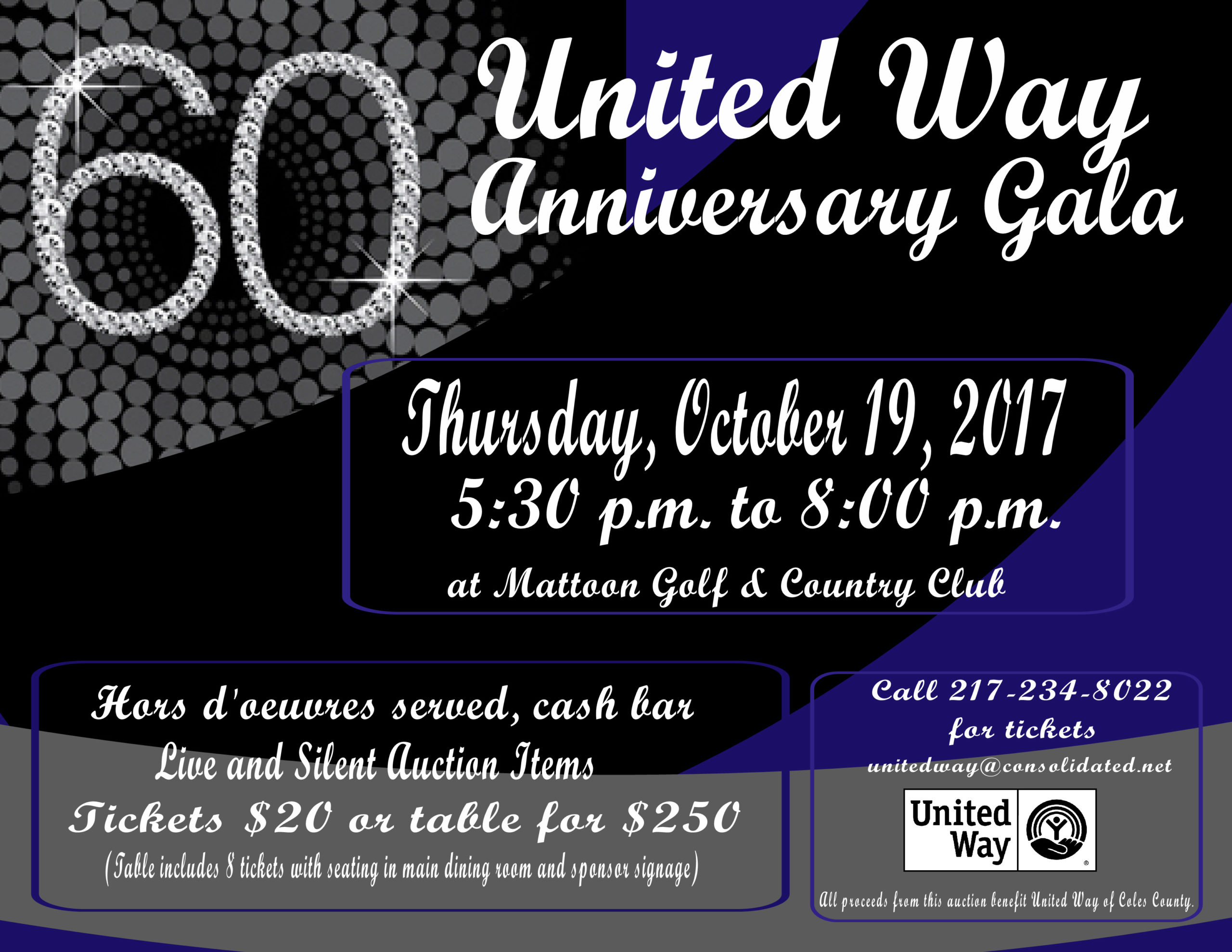 United Way of Coles County's 60th Anniversary Gala