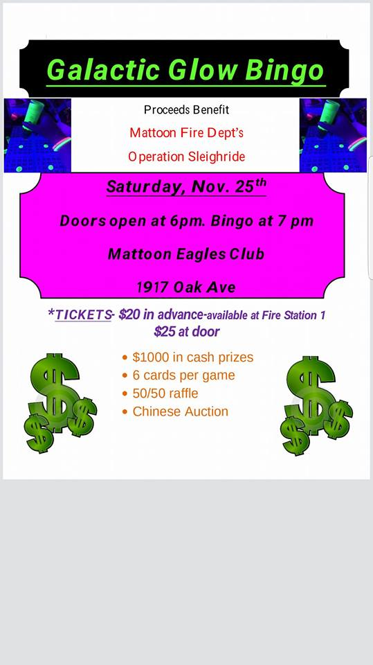 Galactic Glow Bingo with Mattoon Fire