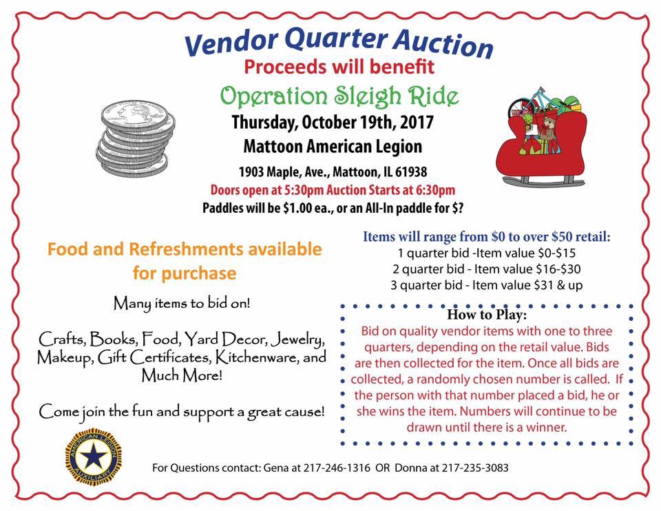 Quarter Auction for Mattoon Fire Sleighride