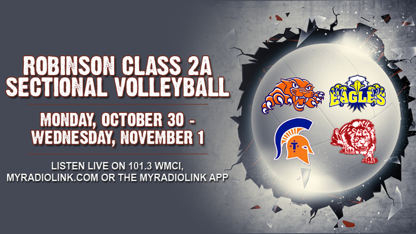 Sectional Volleyball from Robinson Tonight
