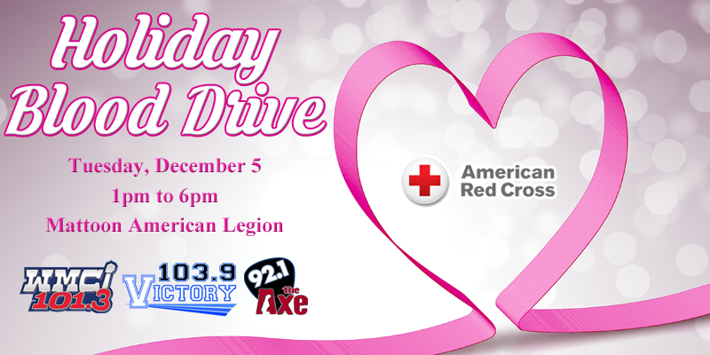 Holiday Blood Drive Tomorrow in Mattoon