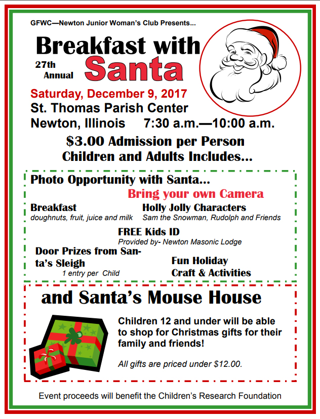 27th Annual Breakfast with Santa in Newton