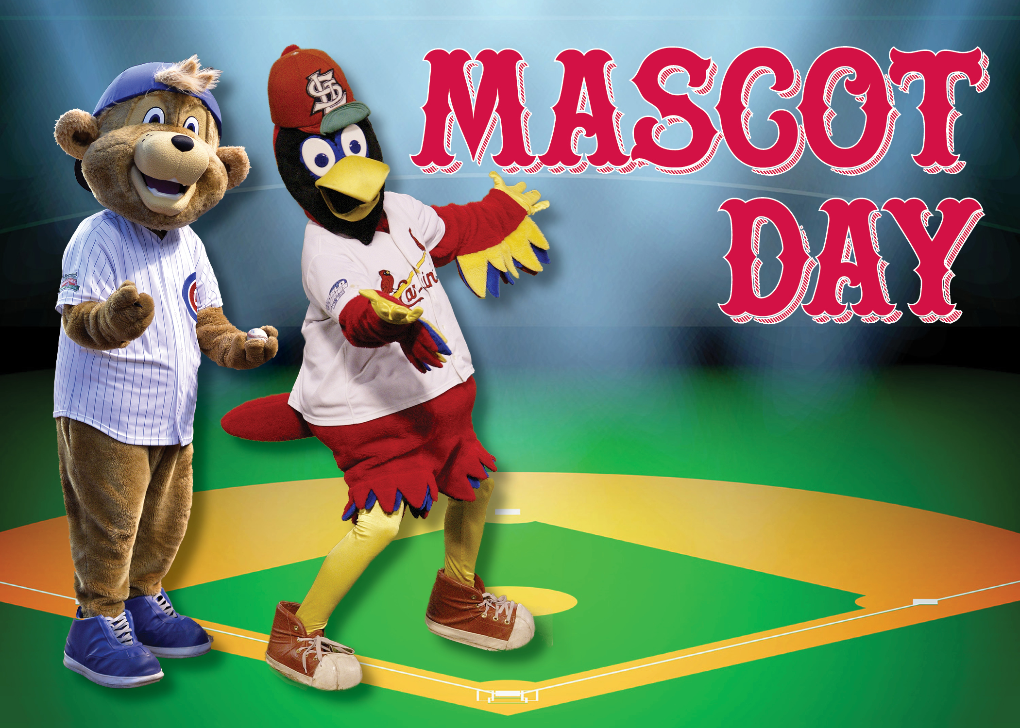 Lincoln Presidential Library welcomes mascots for Cardinals and Cubs on Dec. 16