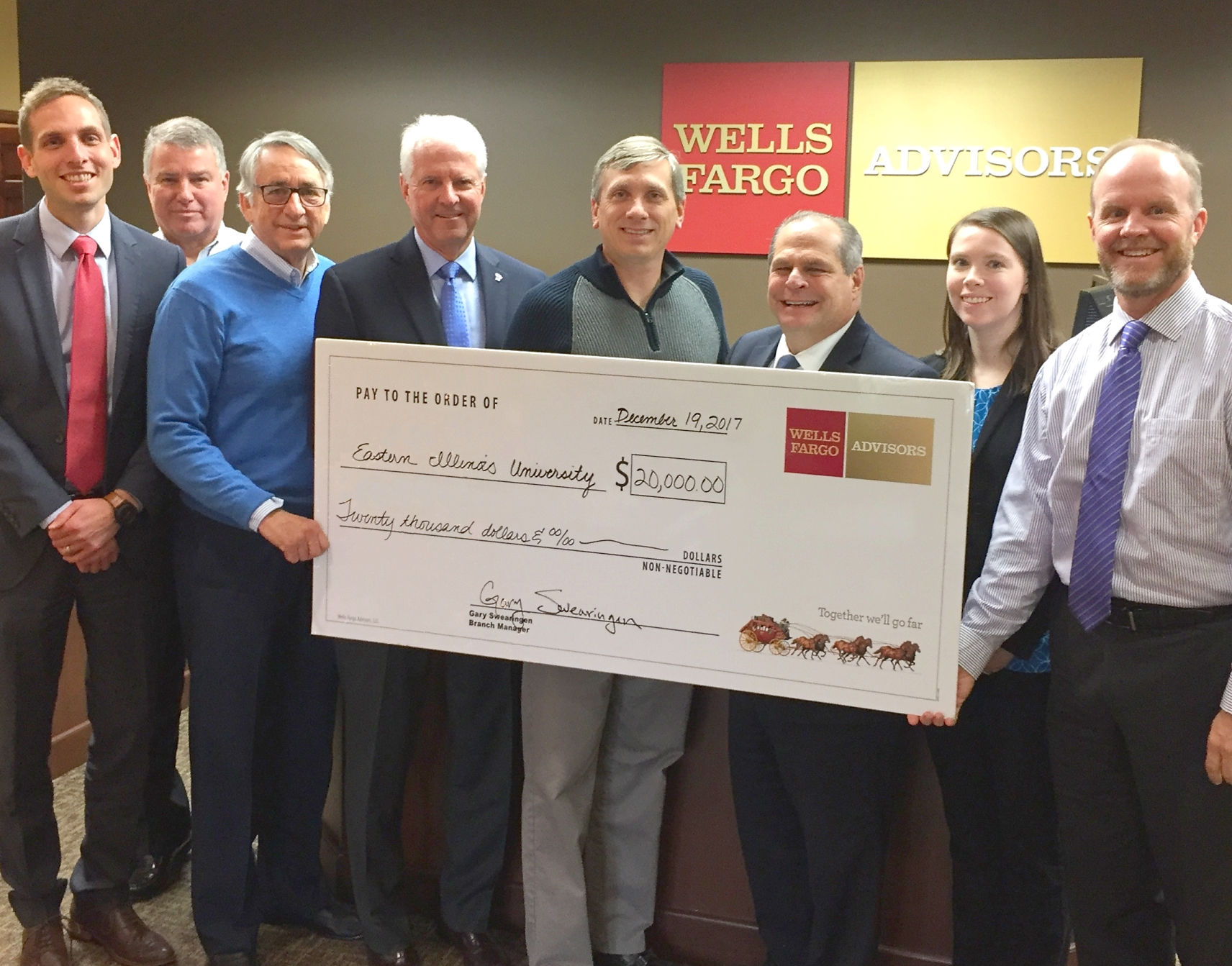 EIU receives gift from Wells Fargo to provide local scholarships