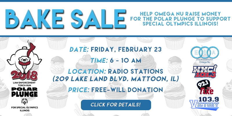 Omega Nu Bake Sale Benefiting Polar Plunge