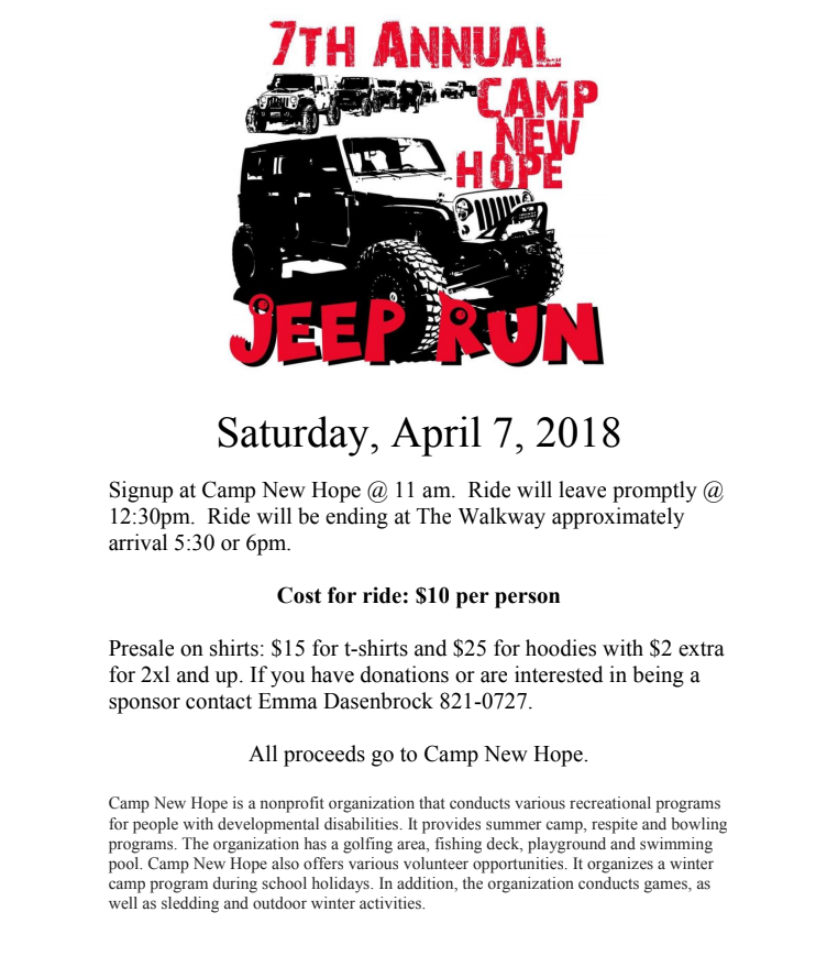 Camp New Hope Jeep Run