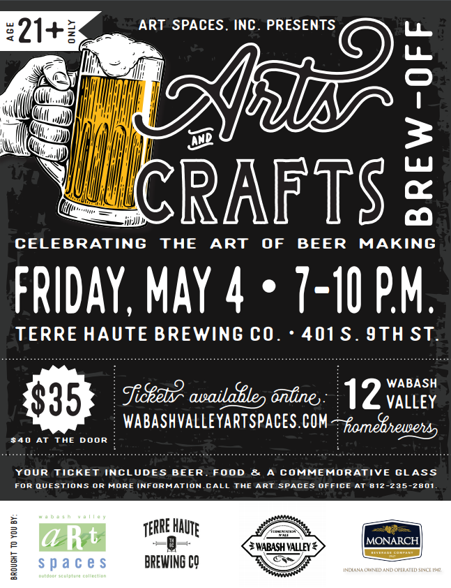 Art Spaces to host Arts & Crafts Brew-Off at Terre Haute Brewing Company