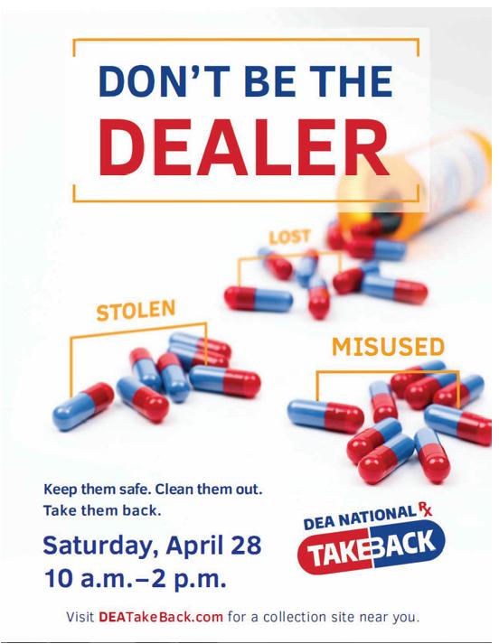 National Drug Take Back Day April 28th