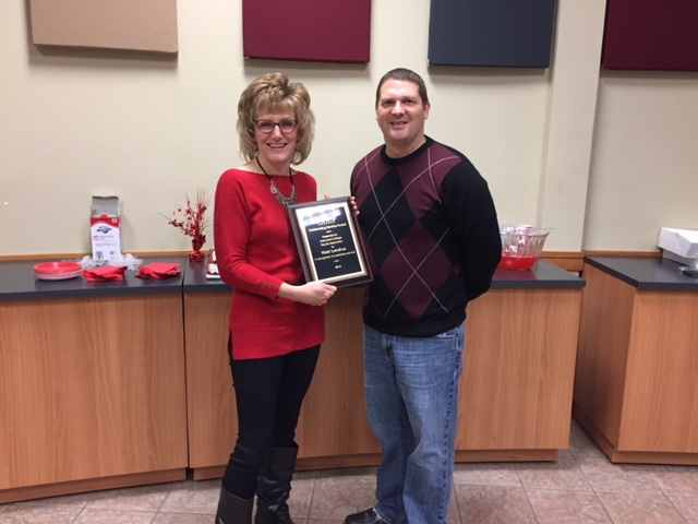 Matt Landrus honored with Lake Land College's Faculty Association Outstanding Service Award