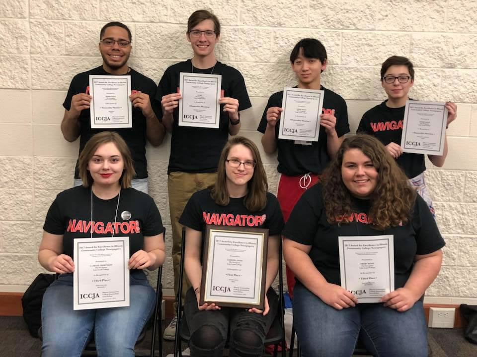 Lake Land College's Navigator News receives awards at ICCJA contest