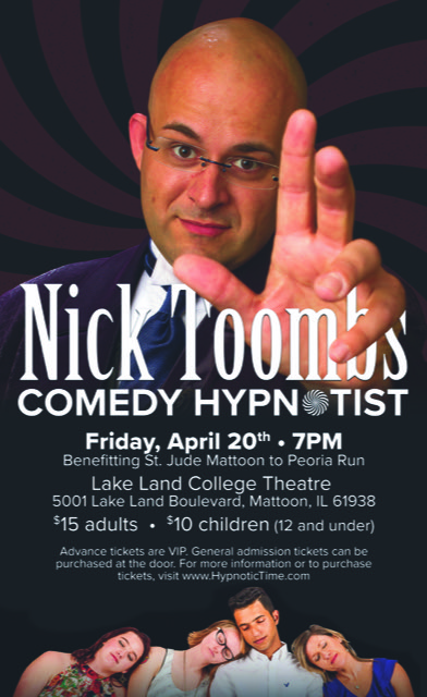 National Touring Comedy Hypnotist Nick Toombs