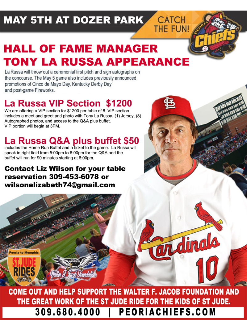 Hall of Fame Manager Tony La Russa Appearance