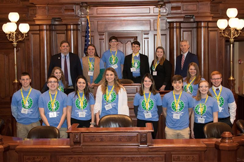 Shelby Electric Cooperative youth visit the capitol for Youth Day