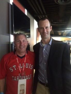 Bob Shields attends Cardinals Affiliate Day