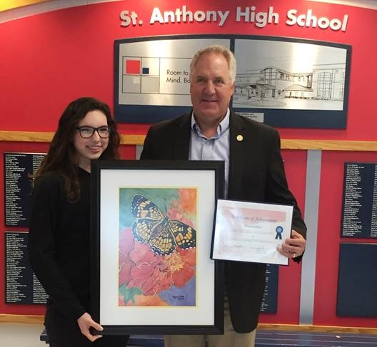 St. Anthony's Megan Hodge Wins 2016 Congressional Art Competition