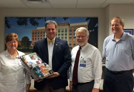 City Officials Visit St. Anthony's Memorial Hospital