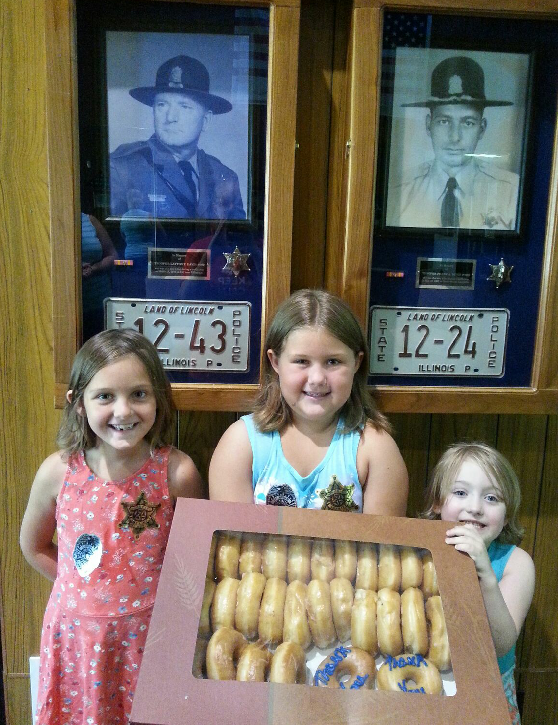 Local Youth Brought Donuts to Local Law Enforcement