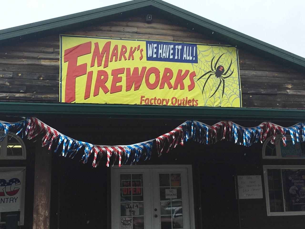 Live on Location at Mark's Fireworks.