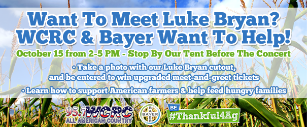 Luke Bryan Meet-And-Greet Tickets from WCRC & Bayer