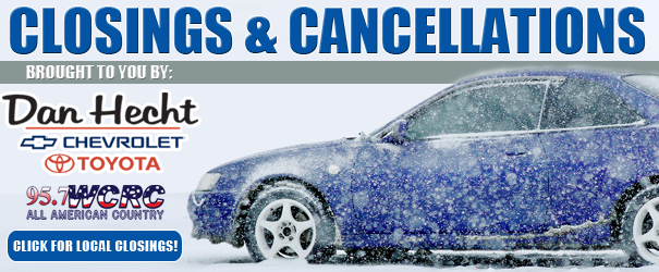 Closings and Cancellations for December 13th