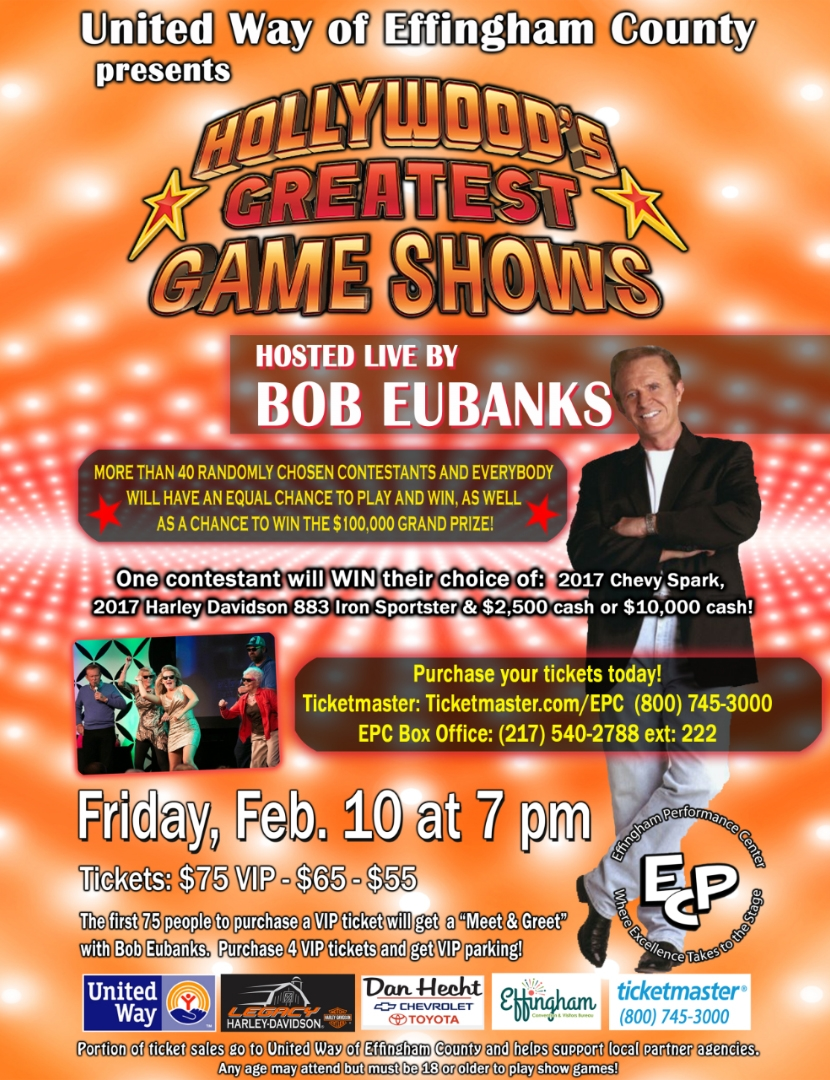 "United Way of Effingham County to Present ""Hollywood's Greatest Game Shows"" on Friday"