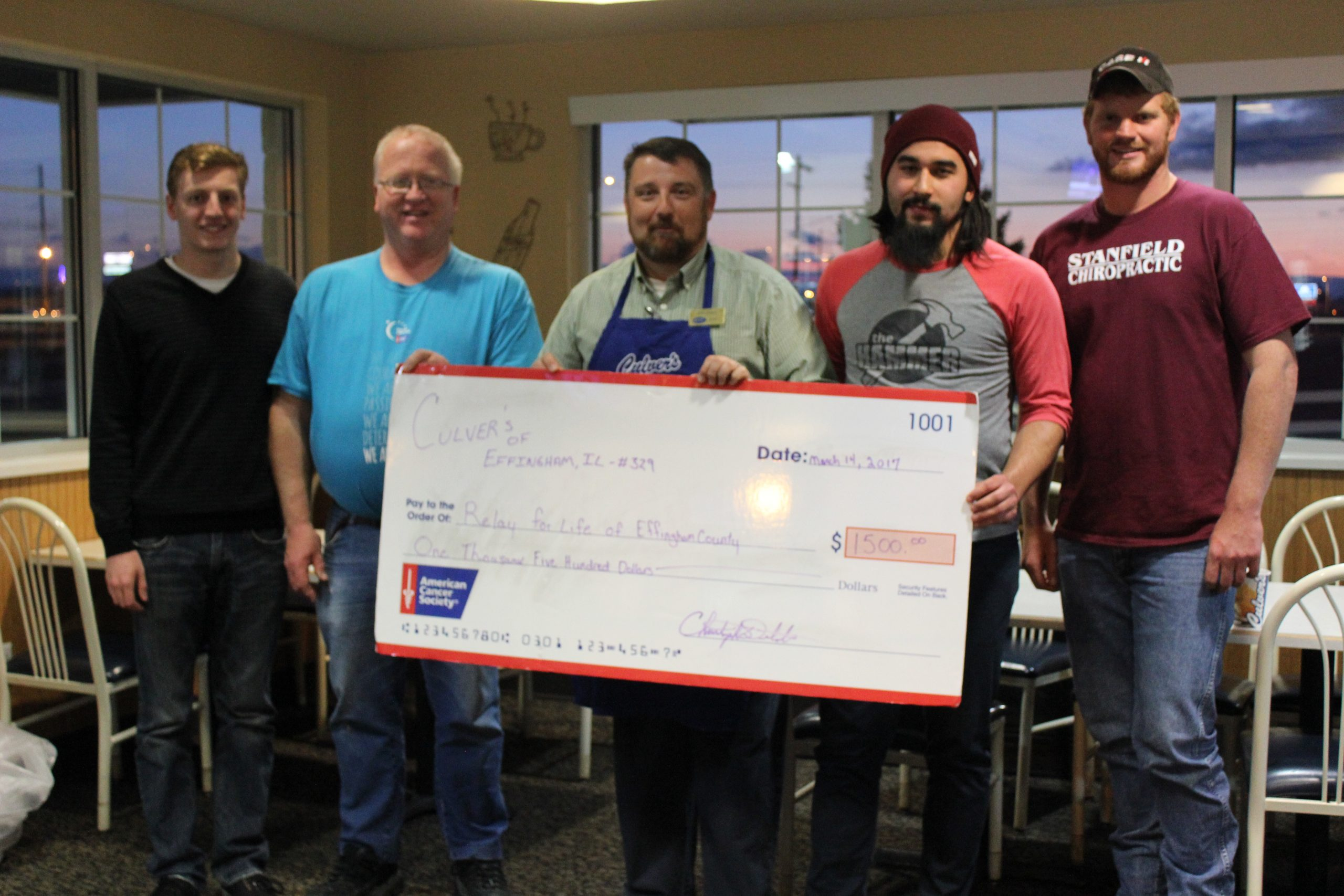 """""""Eat-Off"""" Competition Raises $1,500 for Relay for Life of Effingham County"""