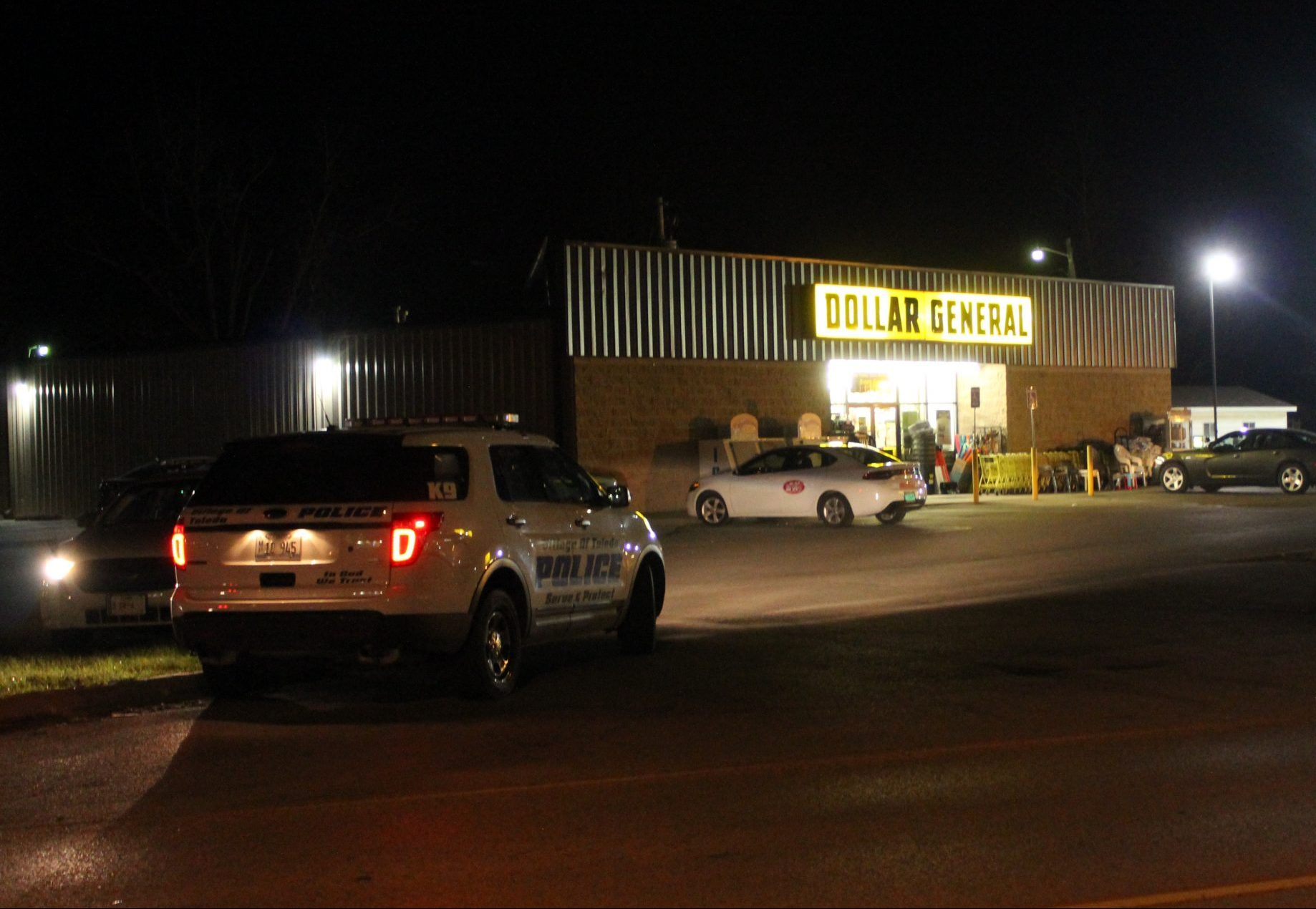 Police investigating an alleged armed robbery at the Greenup Dollar General.