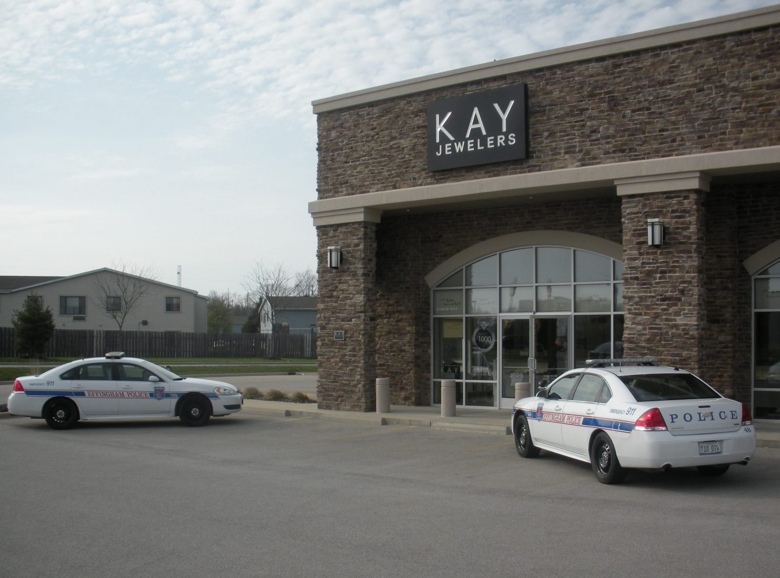 Police at Kay Jewelers investigating an alleged robbery Sunday evening.