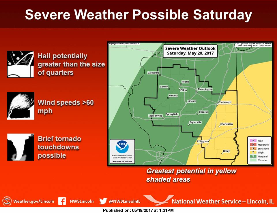 Severe Weather Possible Tomorrow