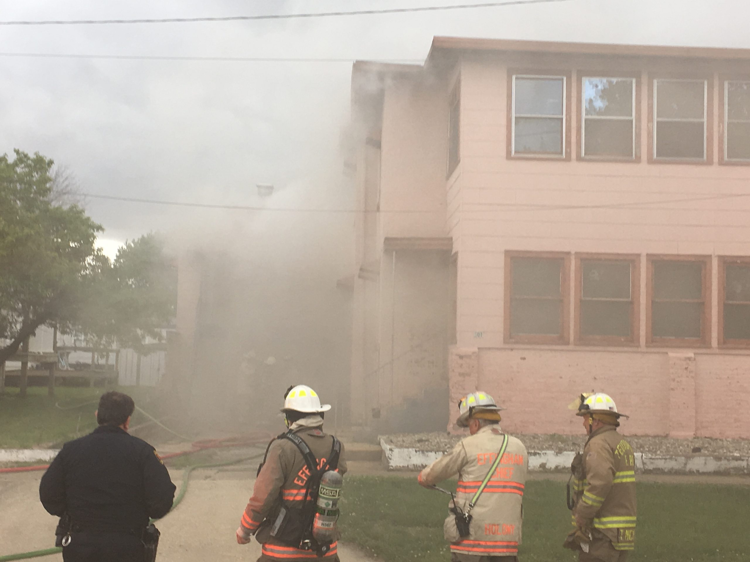 4th Street Apartment Complex Damaged in Fire on Monday