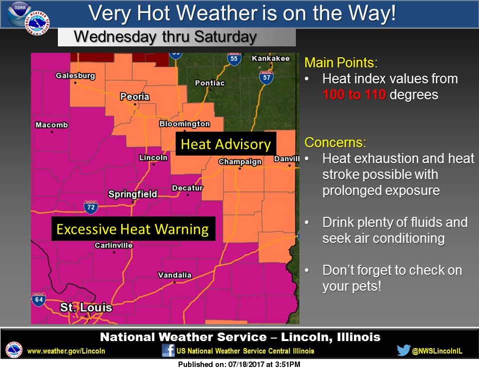 Entire Listening Area Under Excessive Heat Warning