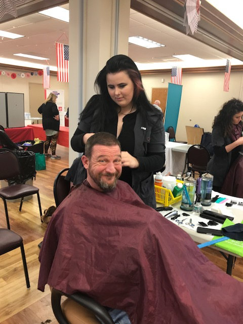 Lake Land College Cosmetology students provided free haircuts to veterans