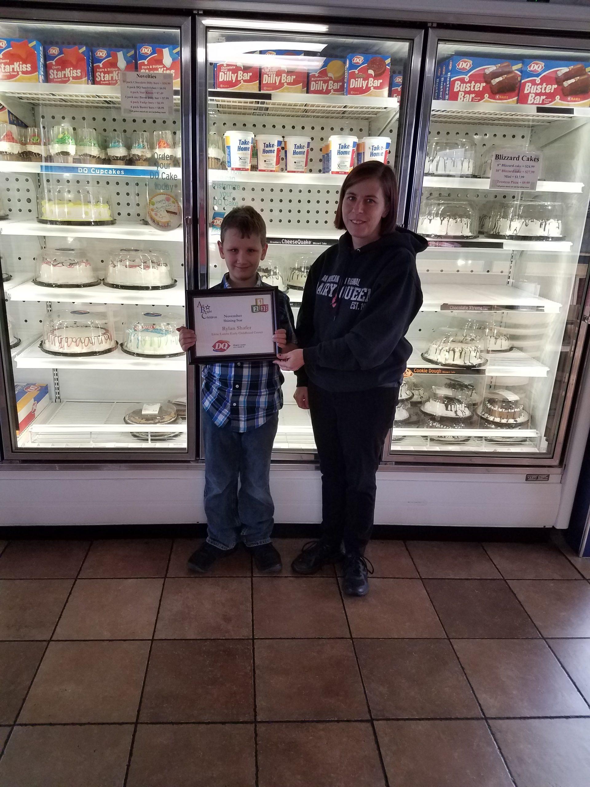 Shafer named November Shining Stars Award Recipient
