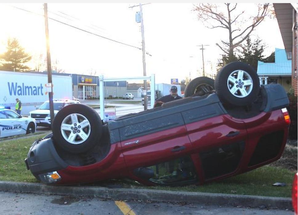 Vehicle Rolls Over Near Newton