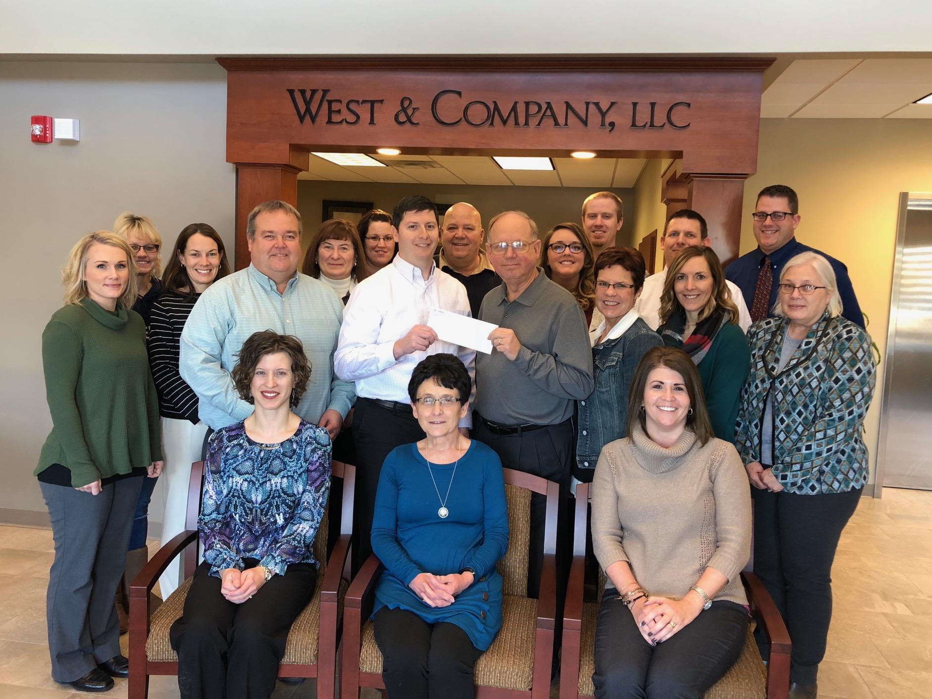 West & Company Donates to United Way