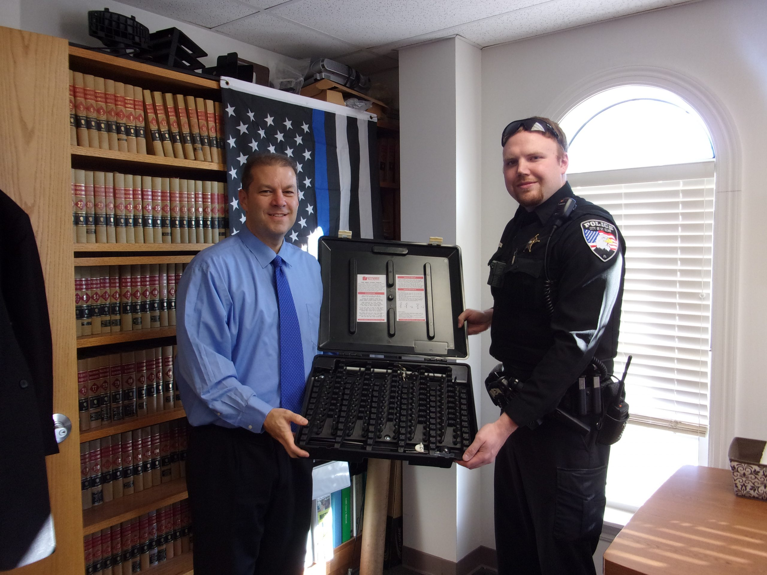 St. Elmo's Police Receives New Equipment From Fayette County State's Attorney