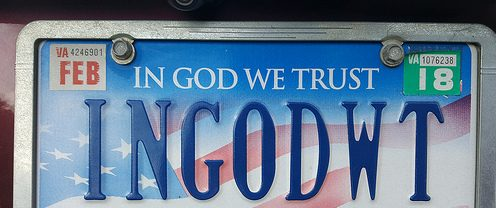 """State Rep. David Reis Introduces Bill Allowing for Issuance of """"In God We Trust"""" Special License Plate Decals by the Illinois Department of Veterans' Affairs."""