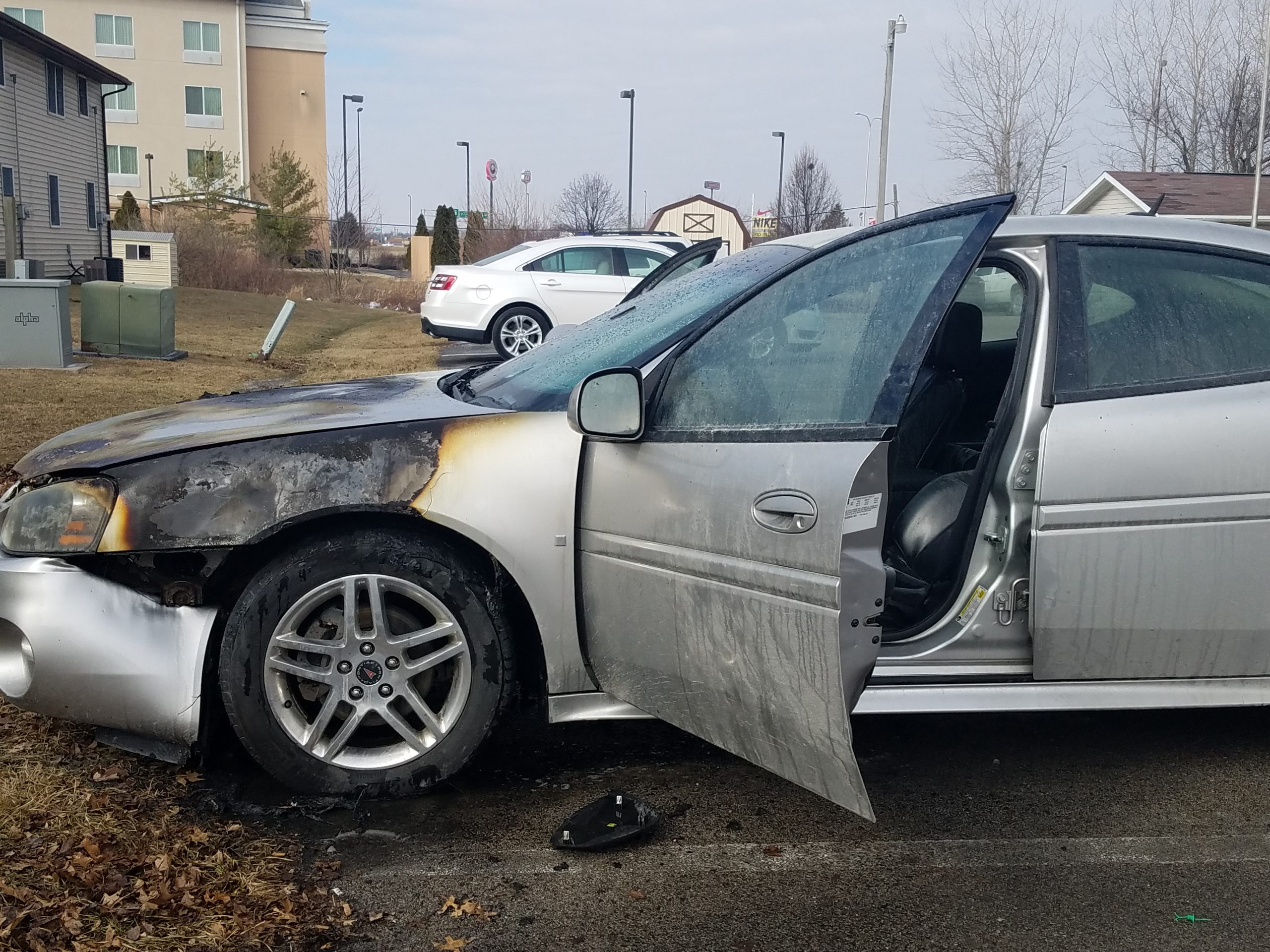 Vehicle Catches Fire Near Evergreen Nursing and Rehabilitation Center in Effingham