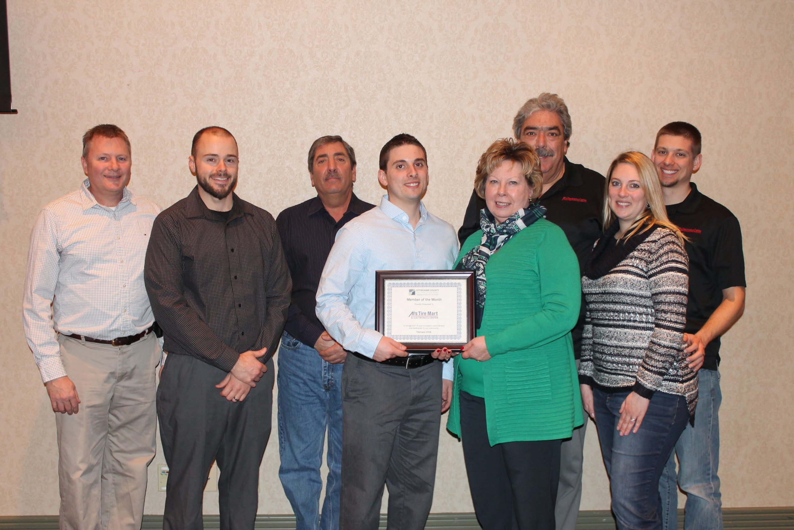 February Member of the Month Recipient Recognized