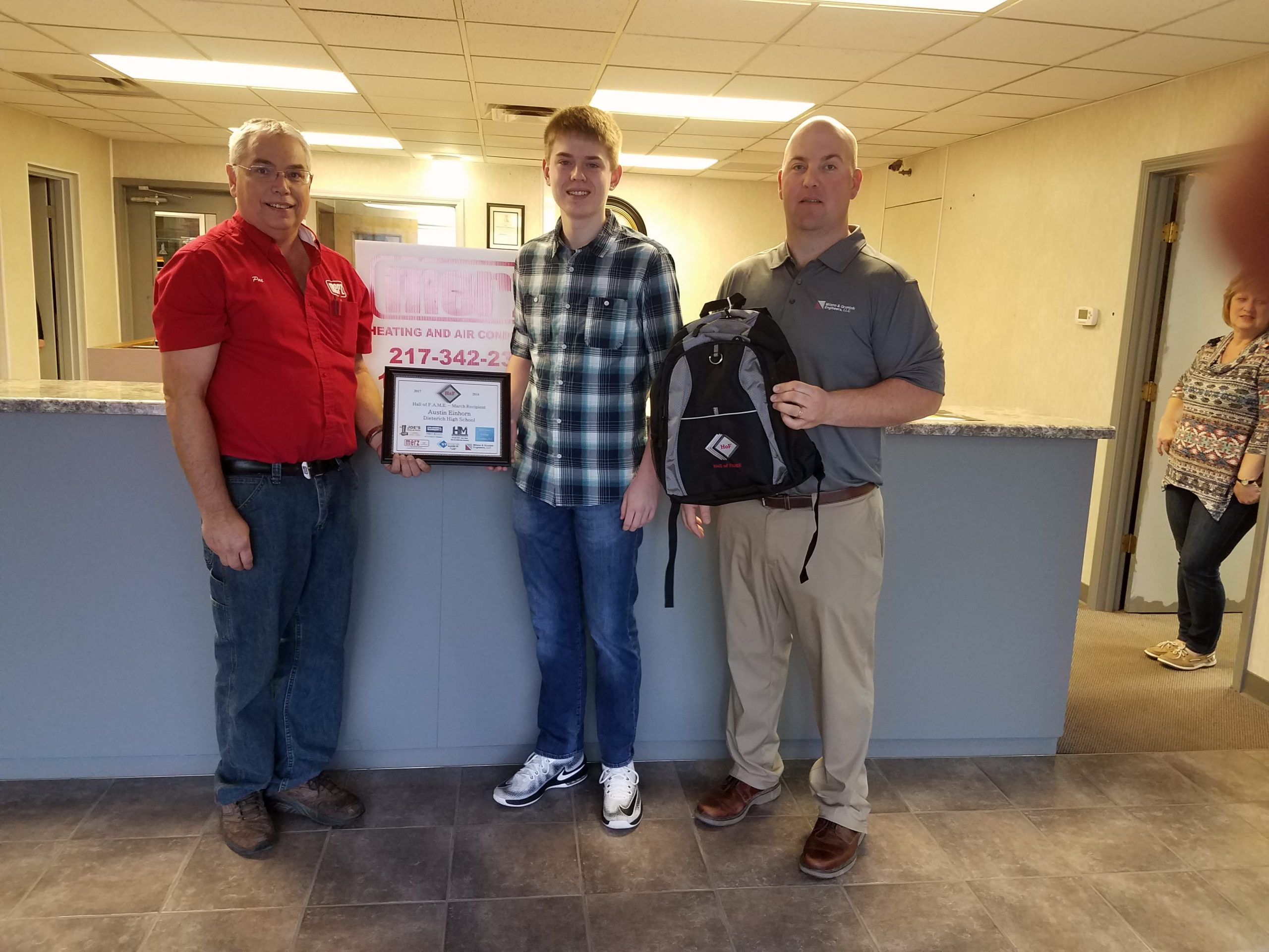 Dieterich Student Receives Hall of FAME award