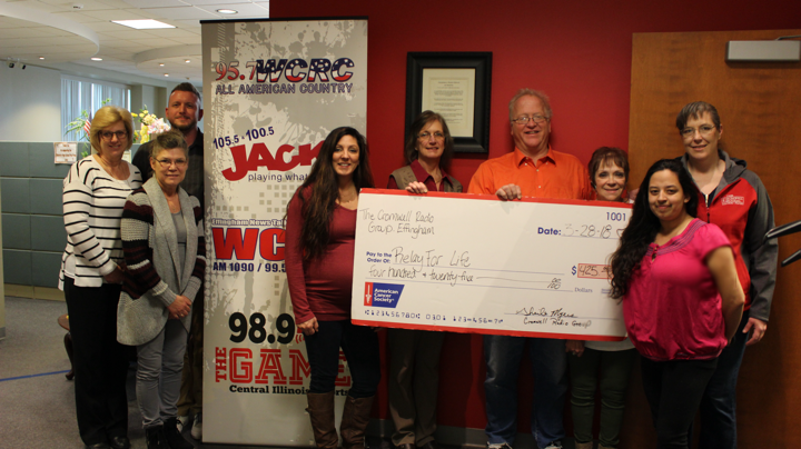 Cromwell Radio Presents Donation to Relay for Life