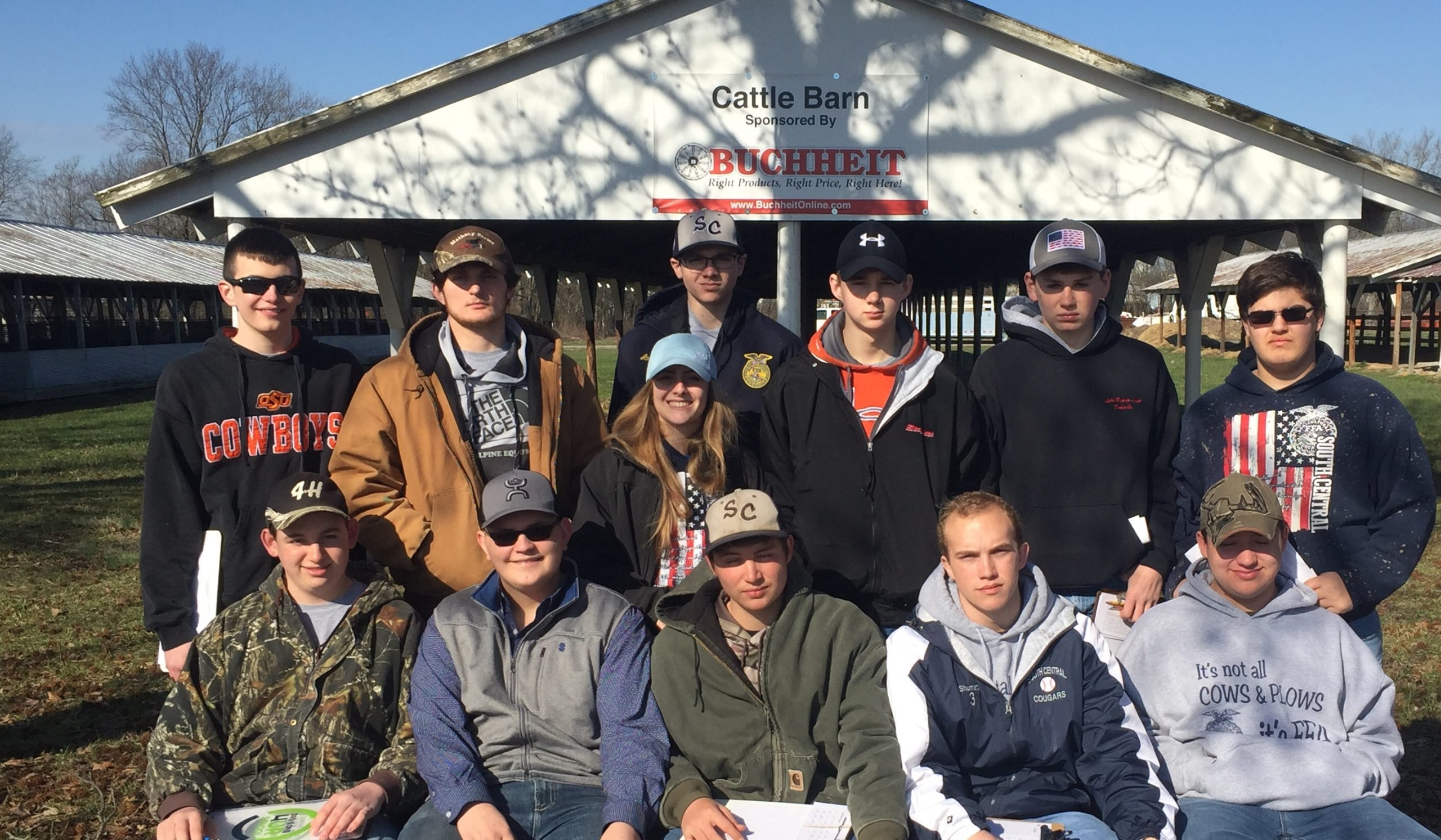 South Central FFA Members Take Part in the Section 19 Dairy Evaluation Contest