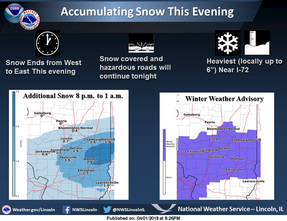 Winter Weather Advisories Issued/ Snow Covered Roads in Listening Area