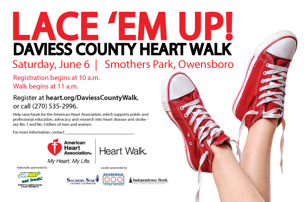 Lace 'Em Up! Daviess County Heart Walk