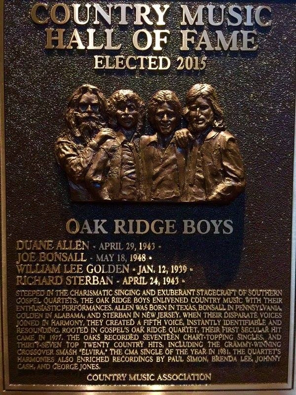 The Oak Ridge Boys, The Browns & Grady Martin Inducted Into The Country Music Hall Of Fame