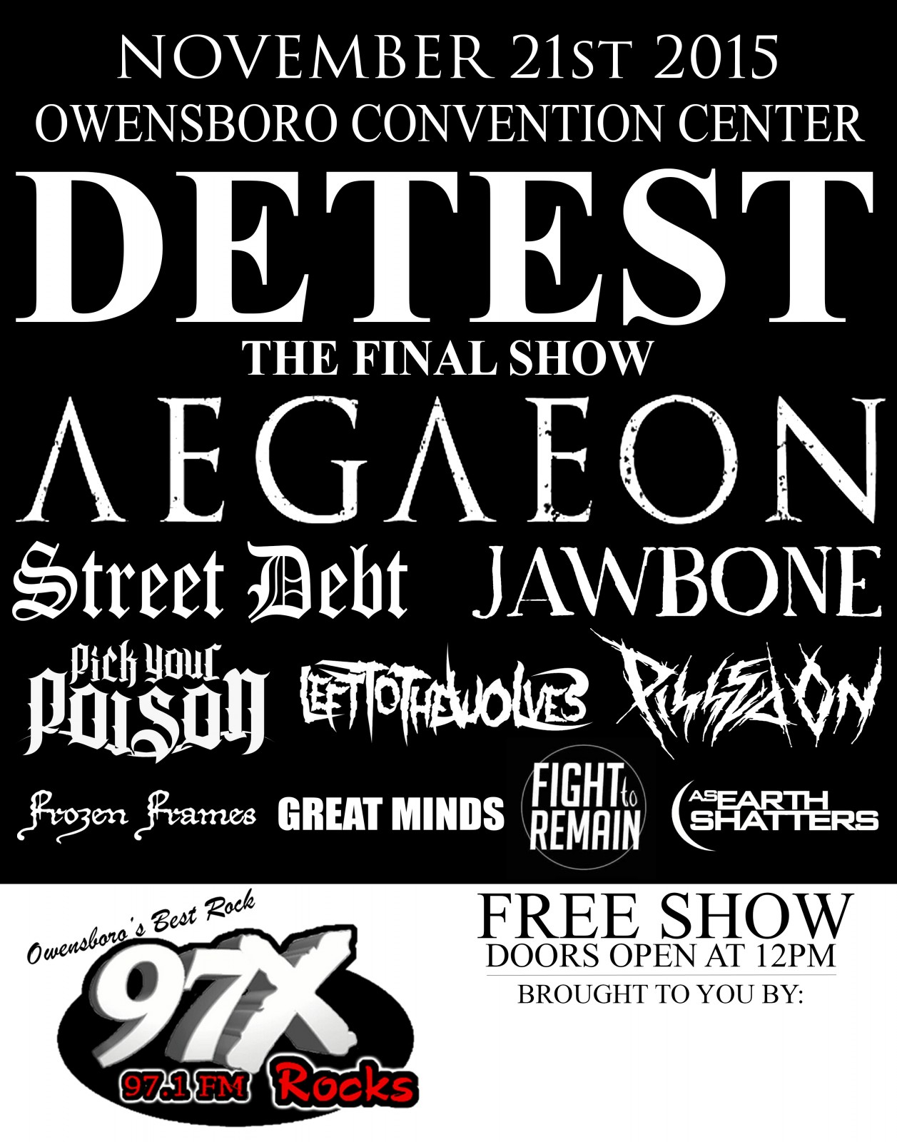 Metal Festival Coming To Owensboro Convention Center Nov. 21st!