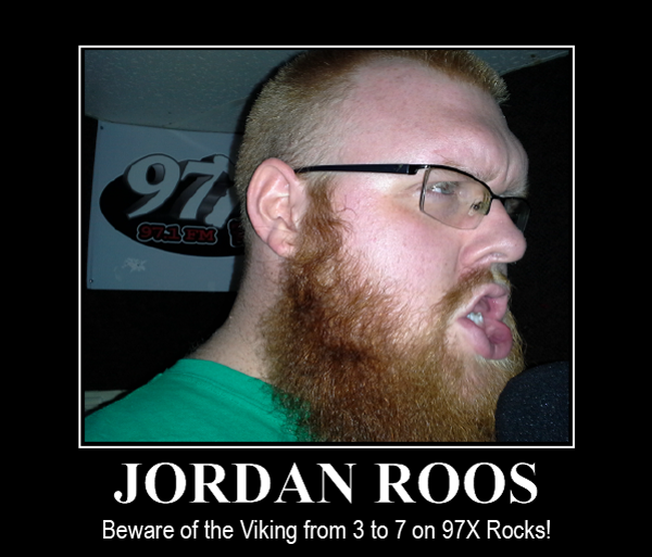 Jordan Roos Is Moving To 3-7PM on 97X!