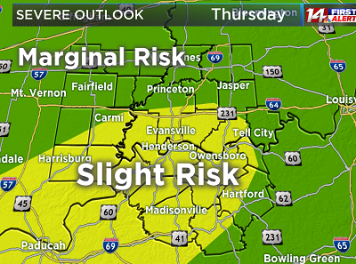 Slight Risk For Severe Weather Late Thursday Night Into Friday!