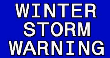Winter Storm Warning In Effect 6pm Tonight Til Noon Tomorrow!